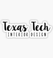 Texas Tech-Interior Design without Arrow Sticker