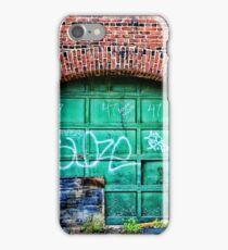 Green Garage Door iPhone Case/Skin