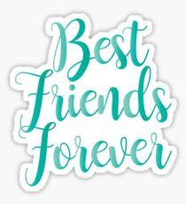 Best Friends Forever : Blue on Black Design Print Sticker