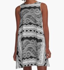Lace Collage A-Line Dress