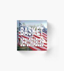 BASKET OF DEPLORABLES Acrylic Block