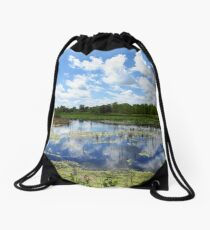 Sheldon Marsh - Cloud Reflection Drawstring Bag