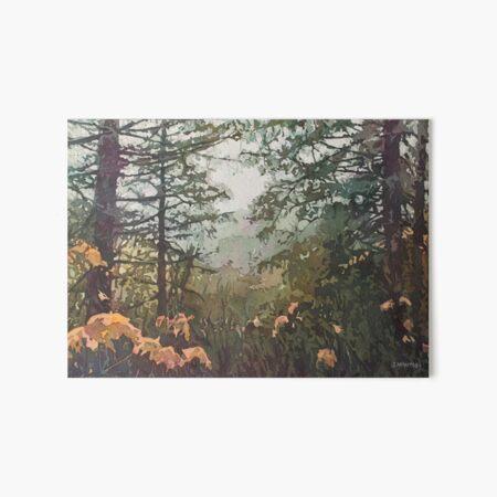 Fog Over Croisan Valley Art Board Print