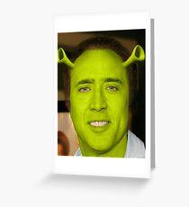 Nicolas Cage - Shrek Greeting Card