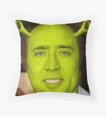 Nicolas Cage - Shrek Throw Pillow