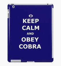 Keep Calm and Obey Cobra iPad Case/Skin