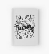 Ich werde dich ohne Rüstung haben Sechs Krähen Notizbuch