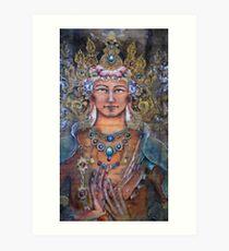 Manjushri and the Dharmachakra mudra Art Print
