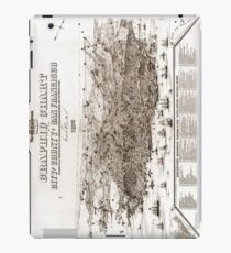 San Francisco - Graphic Chart - 1875 iPad Case/Skin