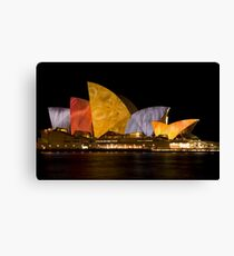 Opera in V Canvas Print