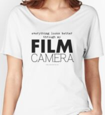 """Everything looks better through my film camera"" Women's Relaxed Fit T-Shirt"