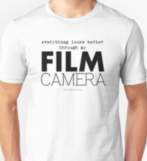 """Everything looks better through my film camera"" T-Shirt"