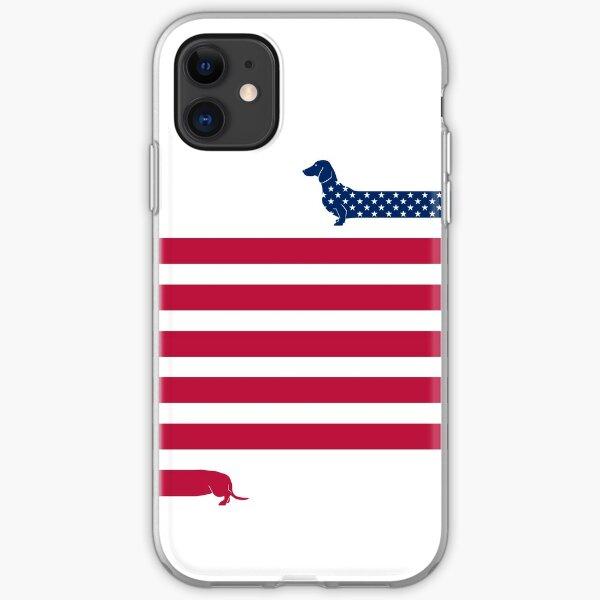 Dachshund Patriot iPhone Soft Case