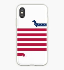 Dachshund Patriot iPhone Case
