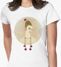 "Art Deco Design by Erte ""Carnations"" Womens Fitted T-Shirt"