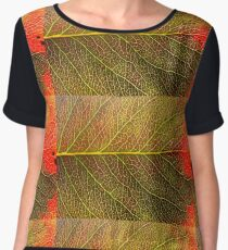 Abstract Leaf Color Study 4 Chiffon Top