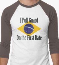 First Date BJJ (Black) Men's Baseball ¾ T-Shirt