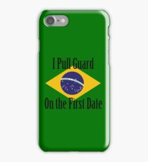 First Date BJJ (Black) iPhone Case/Skin