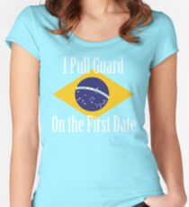 First Date BJJ (White) Women's Fitted Scoop T-Shirt