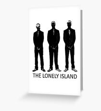 The Lonely Island Silhouette Greeting Card
