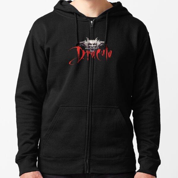 Dracula Bram Stoker Zipped Hoodie