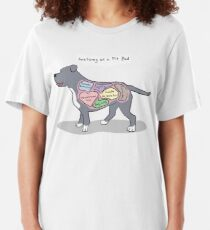 Anatomy of a Pit Bull Slim Fit T-Shirt
