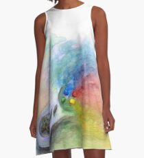 SNES Painting A-Line Dress