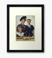 Vintage poster - Soldiers without guns Framed Print