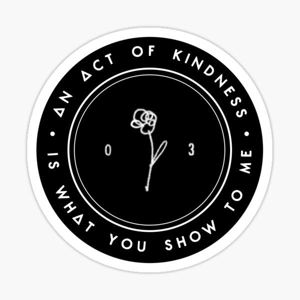An Act Of Kindness - Bastille Sticker
