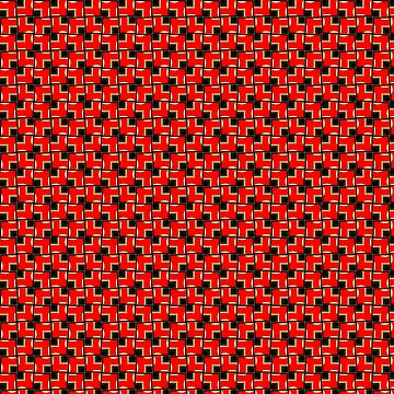 Red Black Geometric Patterns by ARTDICTIVE
