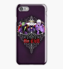 Three Wise Villains (Purple) iPhone Case/Skin