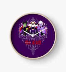 Three Wise Villains (Purple) Clock