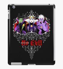 Three Wise Villains (black) iPad Case/Skin