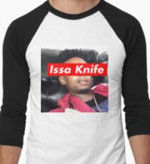issa knife - 21 savage Men's Baseball ¾ T-Shirt