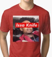 issa knife - 21 savage Tri-blend T-Shirt