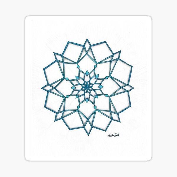 Geometric Snowflake Sticker