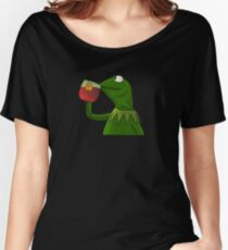 Funny Kermit That's None Of My Business Women's Relaxed Fit T-Shirt