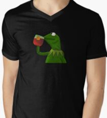 Funny Kermit That's None Of My Business V-Neck T-Shirt
