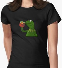 Funny Kermit That's None Of My Business Women's Fitted T-Shirt