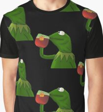 Funny Kermit That's None Of My Business Graphic T-Shirt