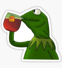 Funny Kermit That's None Of My Business Sticker