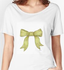 Green Ribbon Bow Women's Relaxed Fit T-Shirt