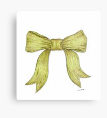 Green Ribbon Bow Metal Print