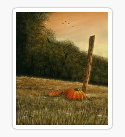 OCTOBER IN THE SOUTH, Acrylic Painting, for, prints and products Sticker