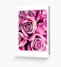 drawing and painting pink roses texture background Greeting Card
