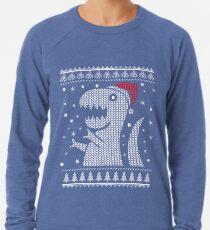 Christmas Dino Ugly Sweater T-Shirt Lightweight Sweatshirt
