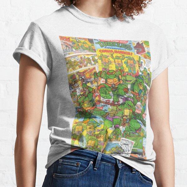 Vintage Comic Teenage Mutant Hero Turtles Classic T-Shirt