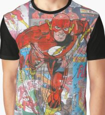 Vintage Comic Flash Graphic T-Shirt