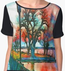 Sunset On The Lake Women's Chiffon Top