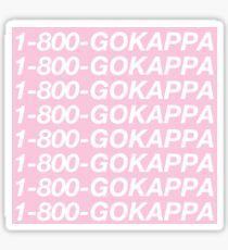1-800-GOKAPPA Sticker